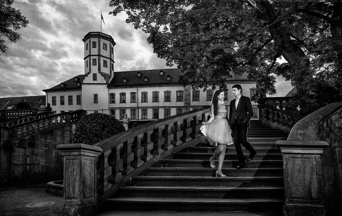 Verlobungssshooting in Schlossgarten Fulda