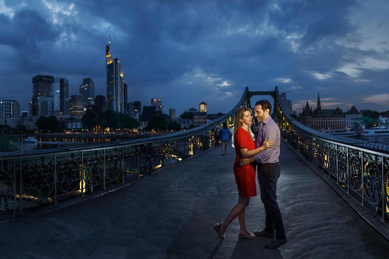 Fotoshooting in Frankfurt auf Eisener Steg