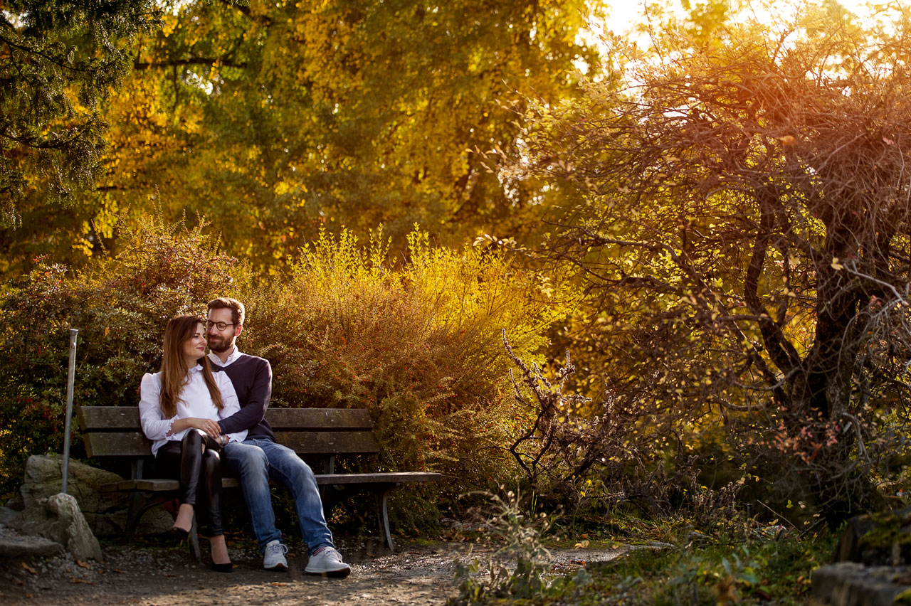 Herbst Verlobungsfotoim Palmengarten Frankfurt